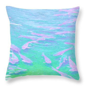Throw Pillow featuring the photograph Fish by Rachel Mirror