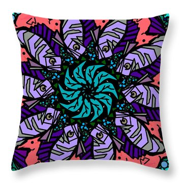 Throw Pillow featuring the digital art Fish / Seahorse #2 by Elizabeth McTaggart