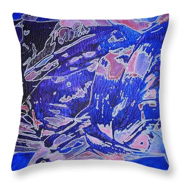 Fish Shoal Abstract Throw Pillow