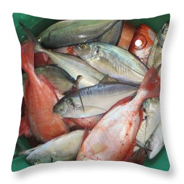 Throw Pillow featuring the photograph Fish by Susanne Baumann