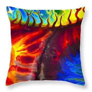 Fish Tales Throw Pillow by Omaste Witkowski