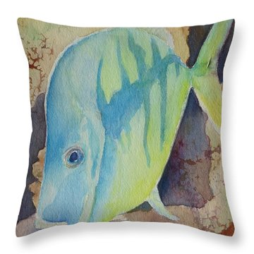 Fish Wish Throw Pillow by Judy Mercer