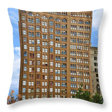 Fisher Building - A Neo-gothic Chicago Landmark Throw Pillow by Christine Till