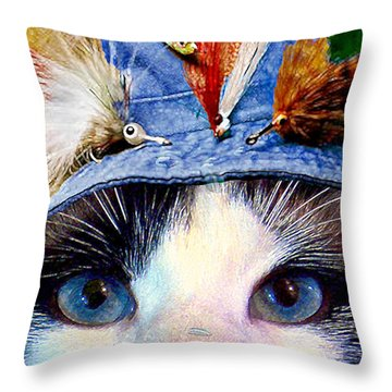 Fisher Cat Throw Pillow by Michele Avanti