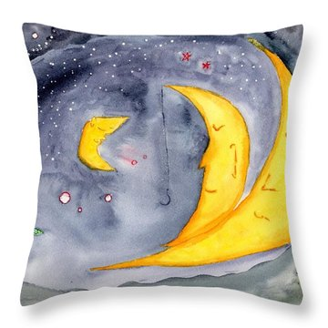 Fisher Moon Throw Pillow