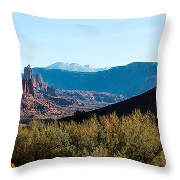 Fisher Towers Throw Pillow