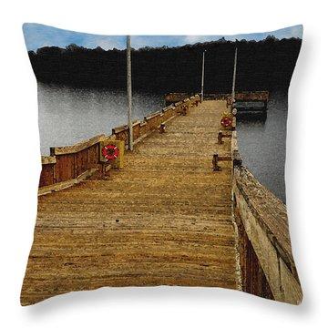 Fisherman Pier Throw Pillow