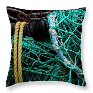 Throw Pillow featuring the photograph Fisherman Tools 001 by Dorin Adrian Berbier