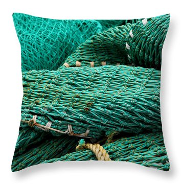 Throw Pillow featuring the photograph Fisherman Tools 002 by Dorin Adrian Berbier