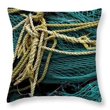 Throw Pillow featuring the photograph Fisherman Tools 005 by Dorin Adrian Berbier