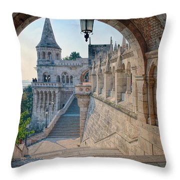 Fisherman's Bastion Budapest Throw Pillow