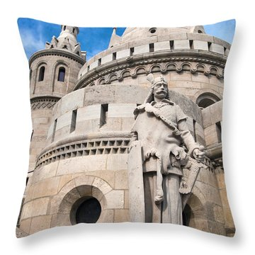 Fisherman's Bastion In Budapest Throw Pillow by Michal Bednarek