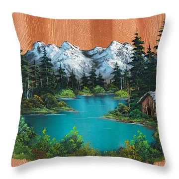 Fisherman's Cabin Throw Pillow by C Steele