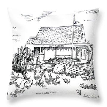 Fisherman's Cove Manasquan Nj Throw Pillow by Melinda Saminski