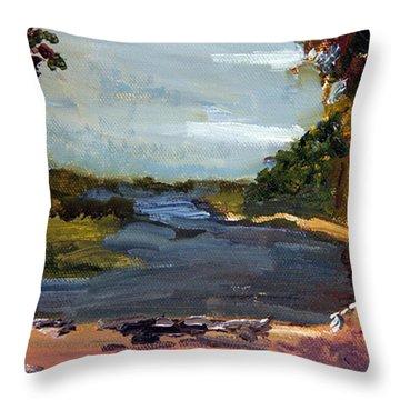 Fisherman's Landing Throw Pillow