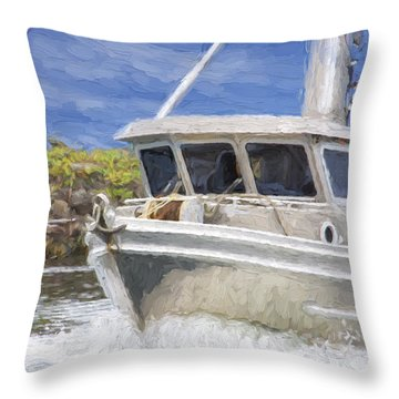 Fisherman's Prayer - West Coast Art Throw Pillow