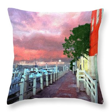 Throw Pillow featuring the photograph Fisherman's Village Marina Del Mar Ca by David Zanzinger