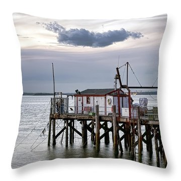 Throw Pillow featuring the photograph Fisherman's Wharf Evening by Richard Bean