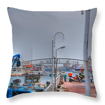 Fisherman's Wharf Taiwan Throw Pillow