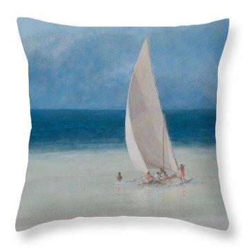 Fishermen Kilifi Throw Pillow