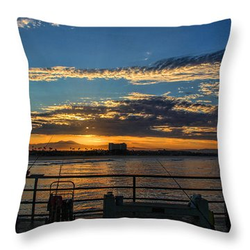 Fishermen Morning Throw Pillow
