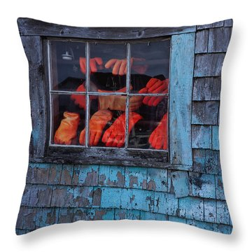 Fishermen's Hands Throw Pillow