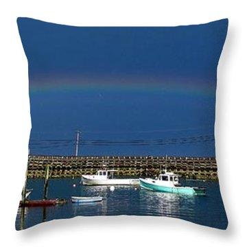 Fishermen's Rainbow Throw Pillow
