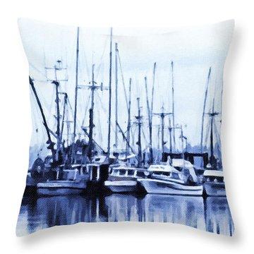 Fishers' Wharf Throw Pillow