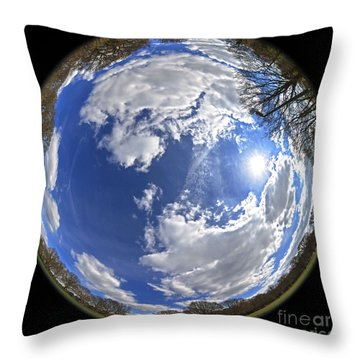 Fisheye Park Throw Pillow
