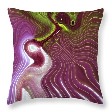Fishface Throw Pillow