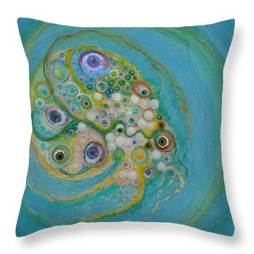 Eye Fish Throw Pillow by Douglas Fromm