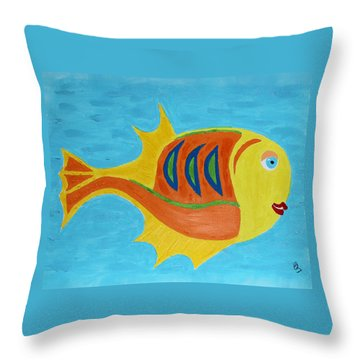 Fishie Throw Pillow