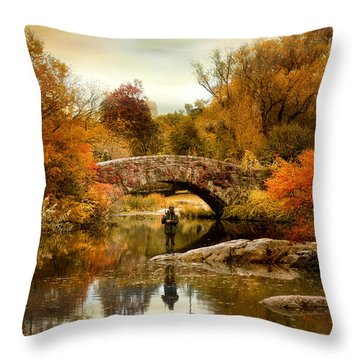 Throw Pillow featuring the photograph Fishing At Gapstow by Jessica Jenney