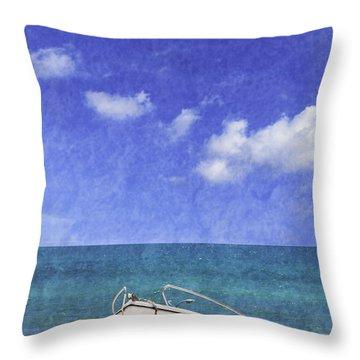 Fishing Boat Algarve Portugal Throw Pillow