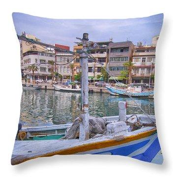 Fishing Boat Throw Pillow