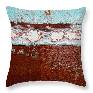 Fishing Boat Hull Throw Pillow by Carol Leigh