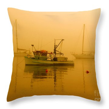 Throw Pillow featuring the photograph Fishing Boat by Trena Mara