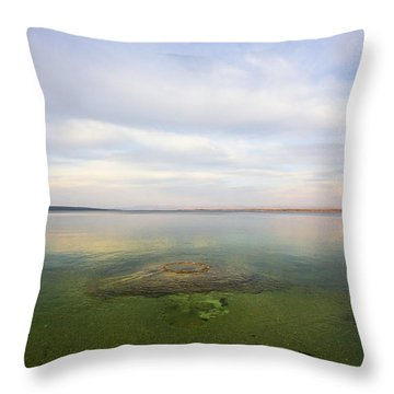 Fishing Cone At Sunset Throw Pillow