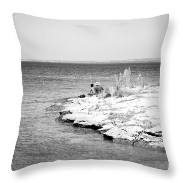 Throw Pillow featuring the photograph Fishing by Erika Weber