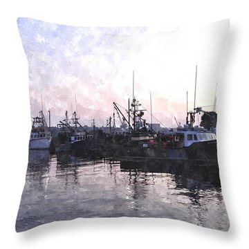 Fishing Fleet Ffwc Throw Pillow by Jim Brage