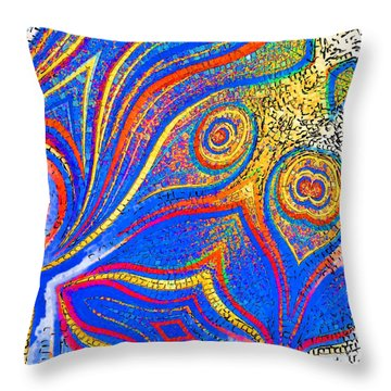 Fishing For Colours Throw Pillow