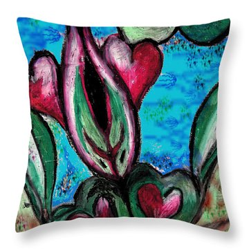 Fishing For Love Throw Pillow by Sladjana Lazarevic