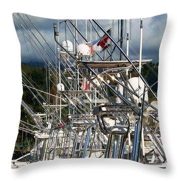 Fishing Fury Throw Pillow by Karen Wiles