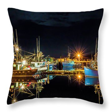 Fishing Hamlet Throw Pillow
