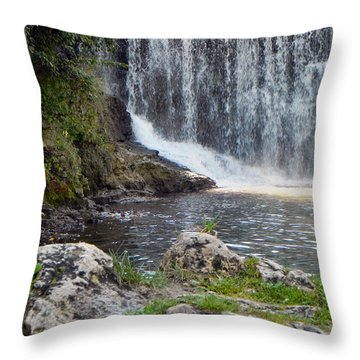 Throw Pillow featuring the photograph Fishing Hole by Deb Halloran