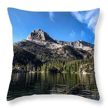 Fishing In Lake Sabrina Throw Pillow