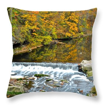 Fishing Is Relaxing Throw Pillow by Frozen in Time Fine Art Photography