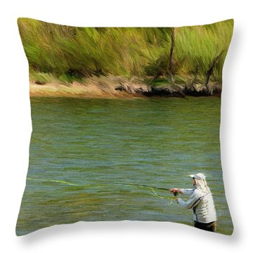 Fishing Lake Taneycomo Throw Pillow by Jeffrey Kolker