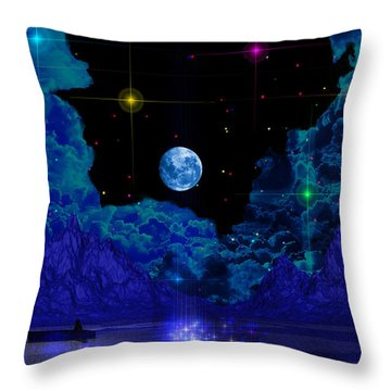 Throw Pillow featuring the photograph Fishing by Mark Blauhoefer