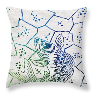 Fishing Net Throw Pillow by Aged Pixel